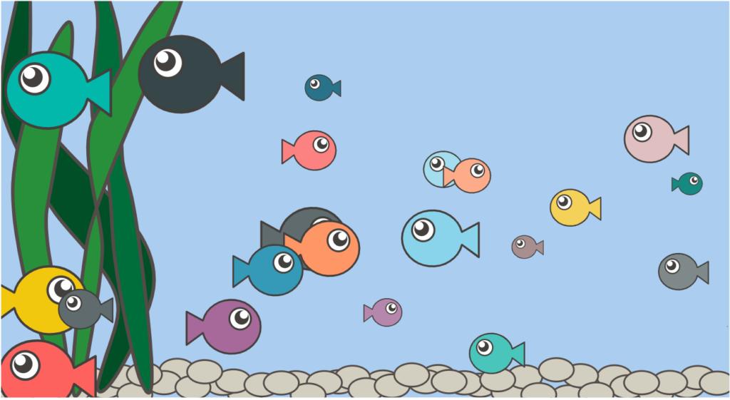 Visuaal meie kõikidest liikujatest, mida suurem kalake, seda rohkem samme!